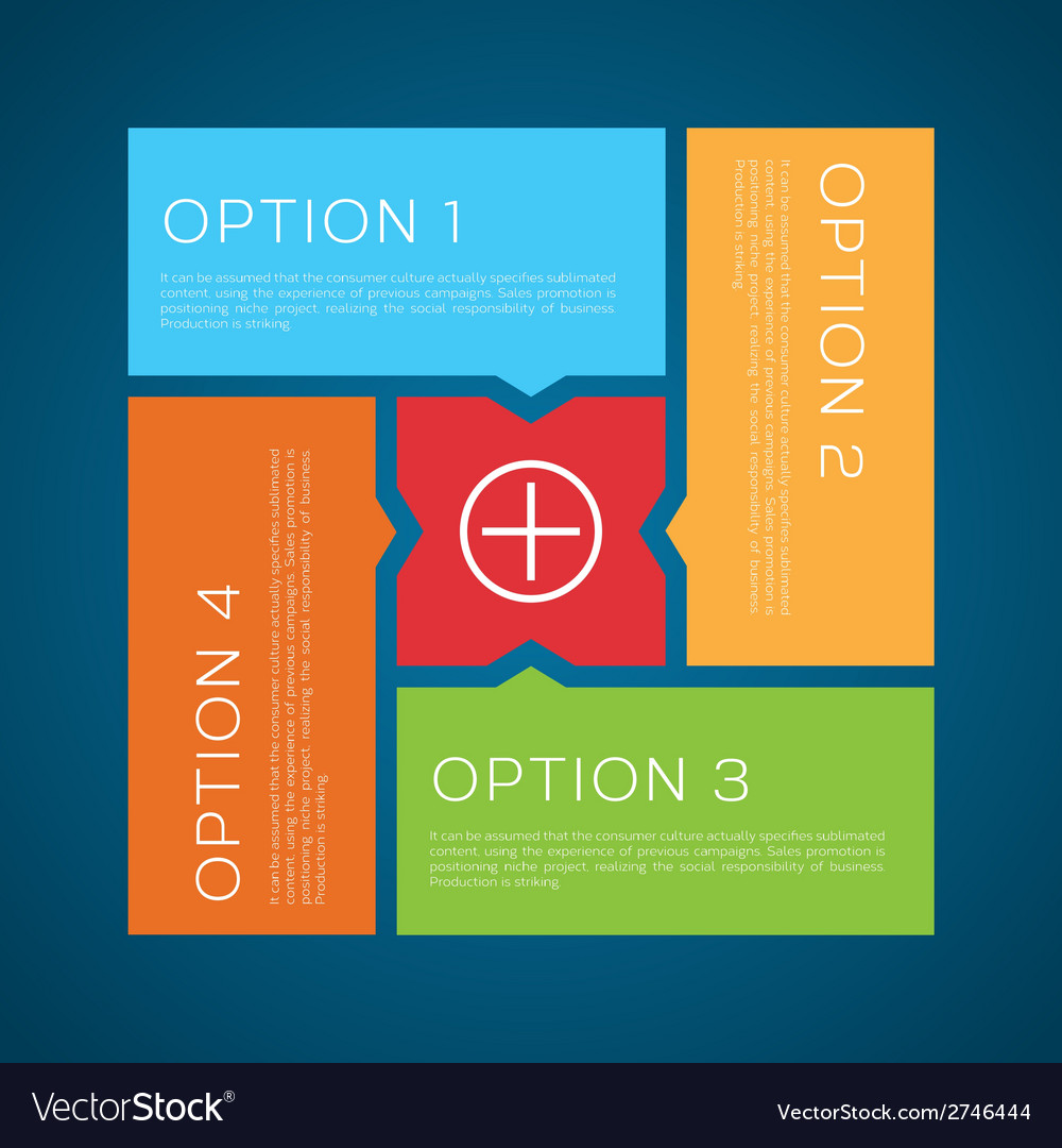 Flat style options background