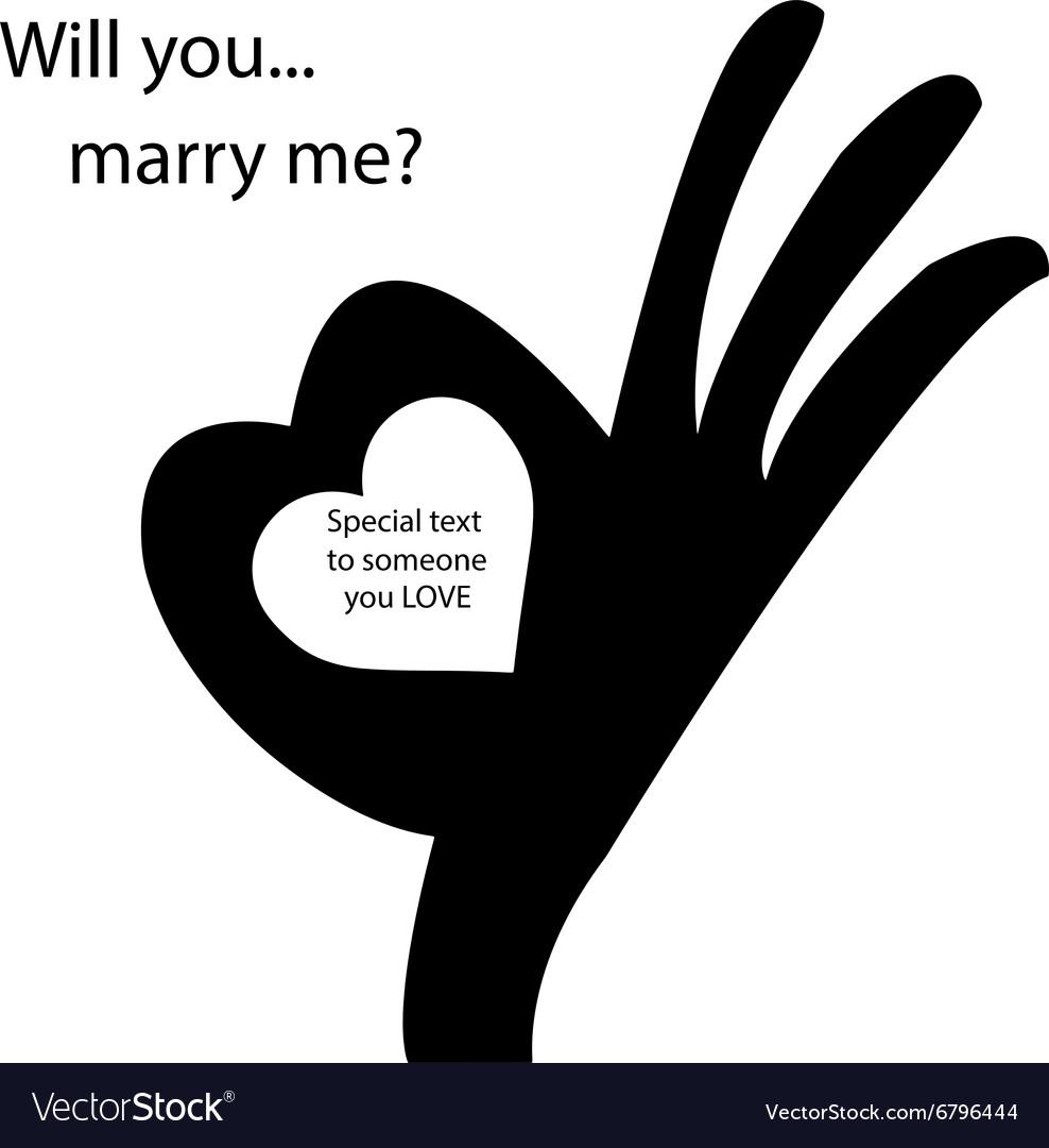 Human okay hand sign with heart shape