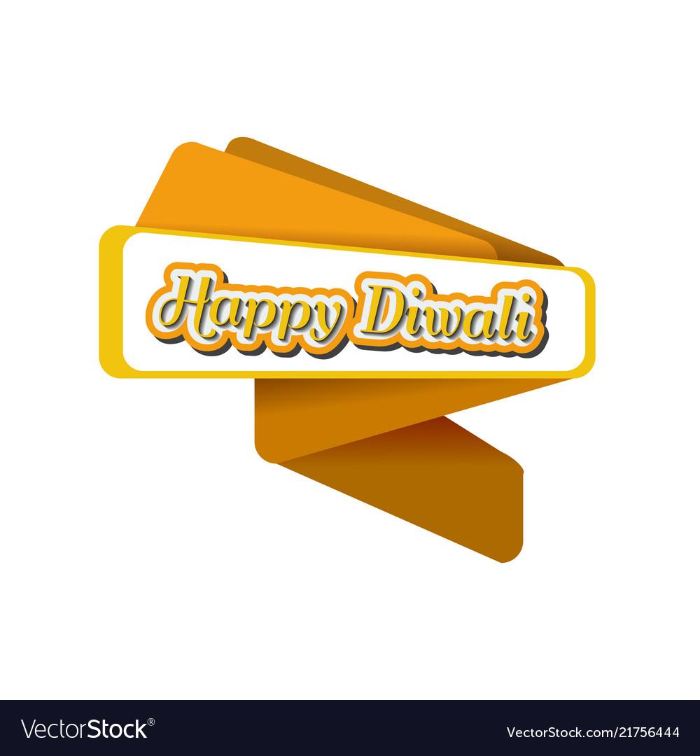 Origami banner for diwali trendy origami