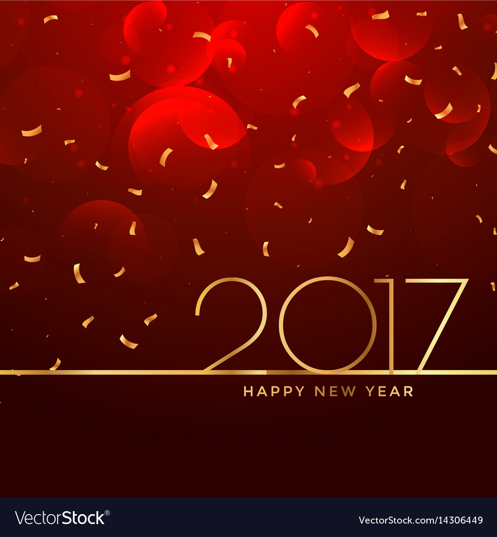 2017 new year celebration background in red color vector image