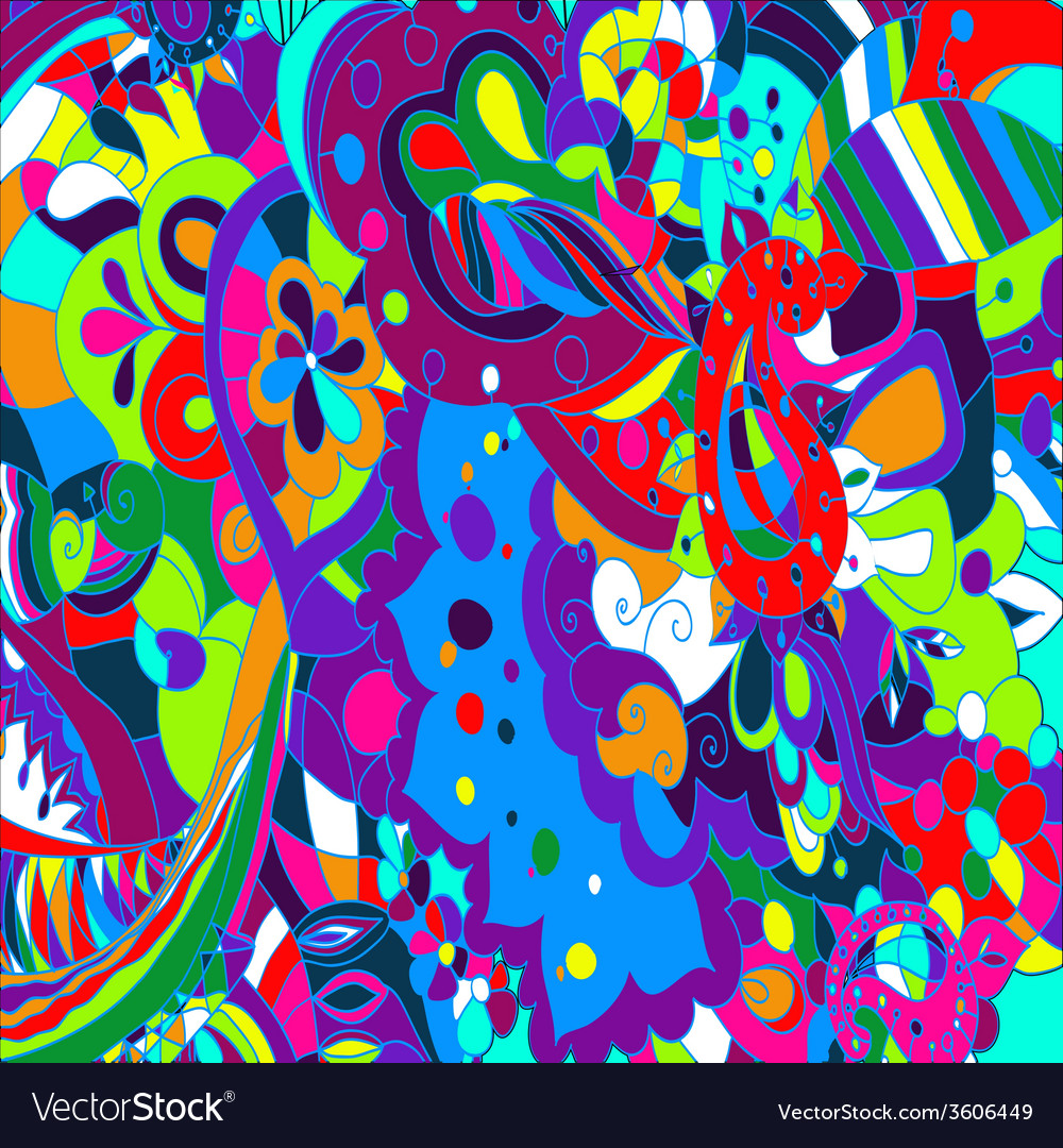 Abstract colour shape background vector image