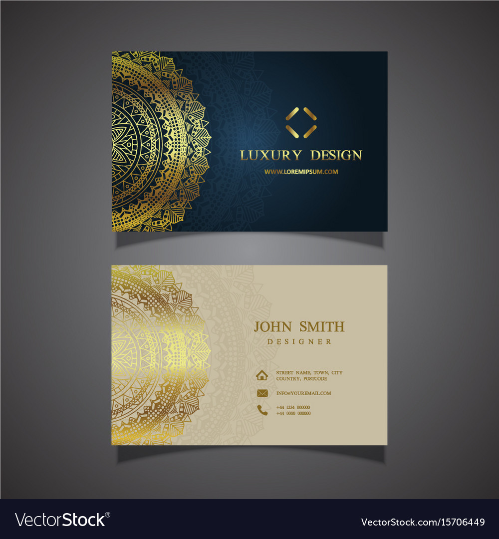 Elegant business card design Royalty Free Vector Image