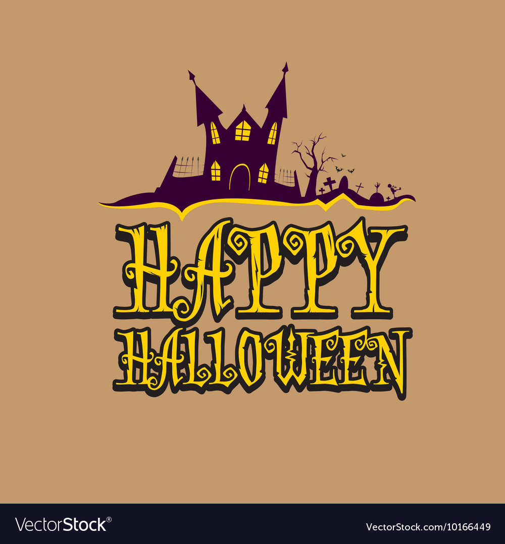 happy halloween card design template royalty free vector