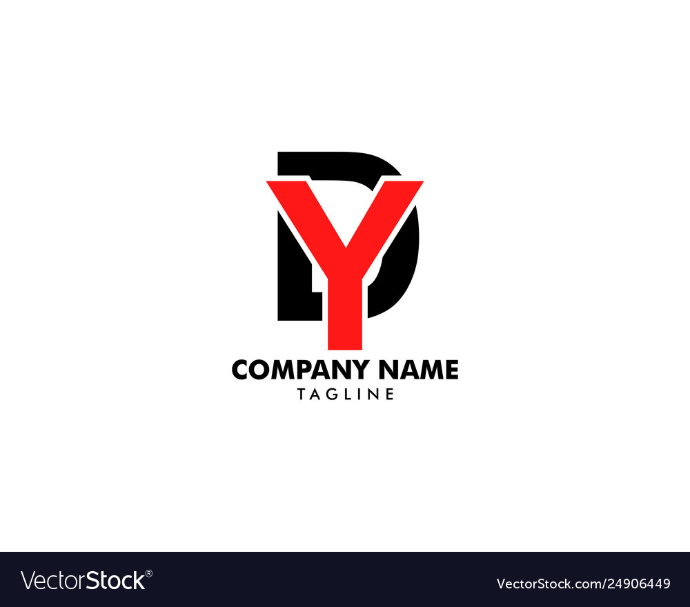 Initial letter dy logo template design