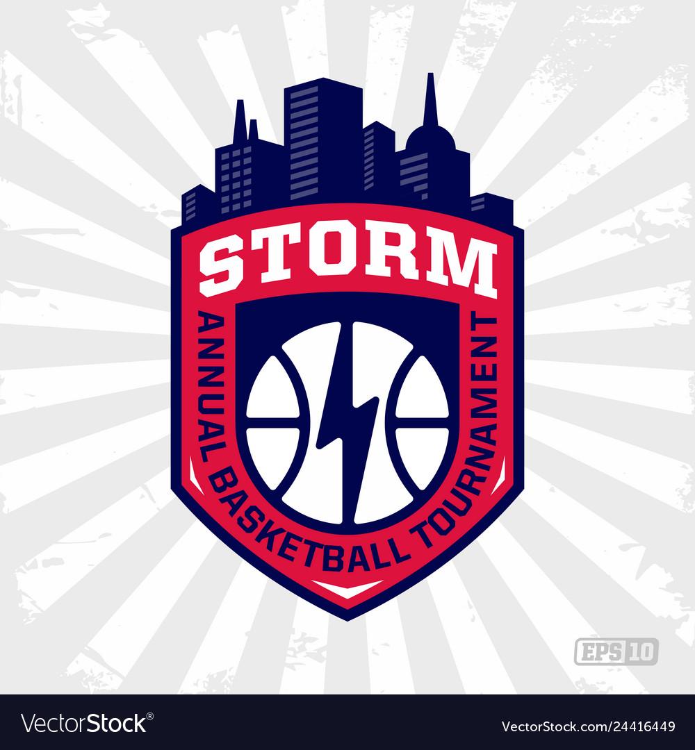 Modern professional basketball logo for sport team