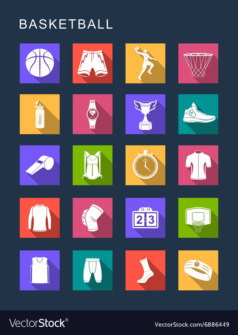 Set Flat Square Icons