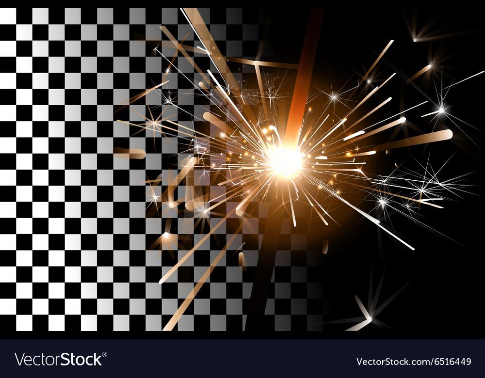 Sparkler on a transparent background vector image