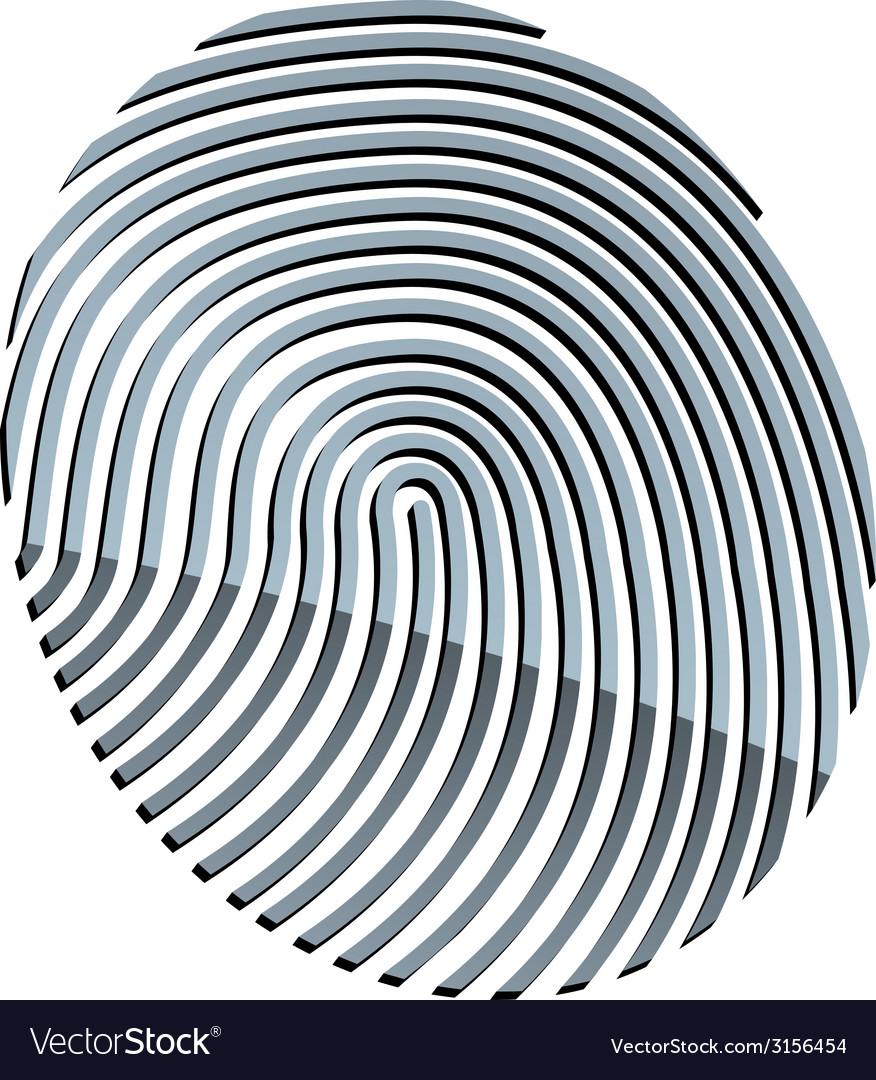 3d abstract fingerprint royalty free vector image rh vectorstock com fingerprint vector free download fingerprinting victoria tx