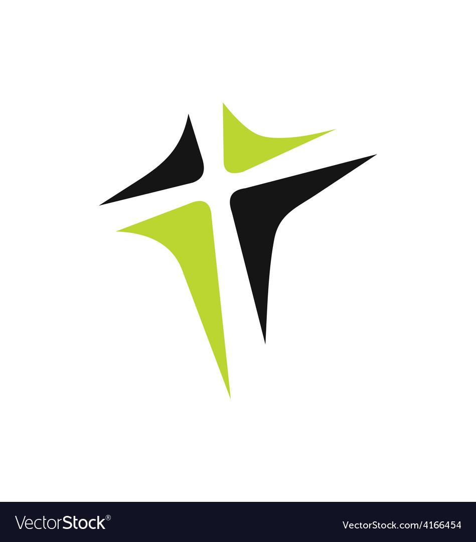 Abstract cross logo vector image