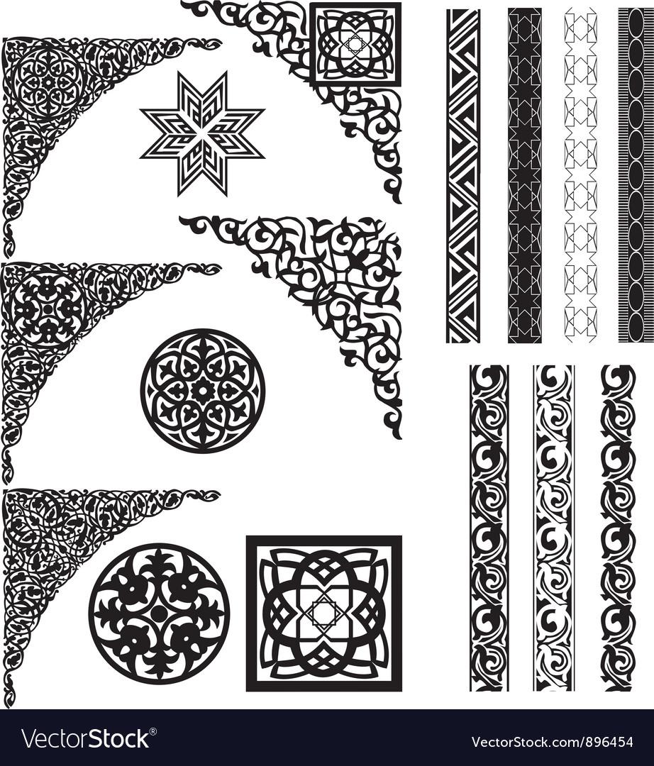 Arabic ornament corners