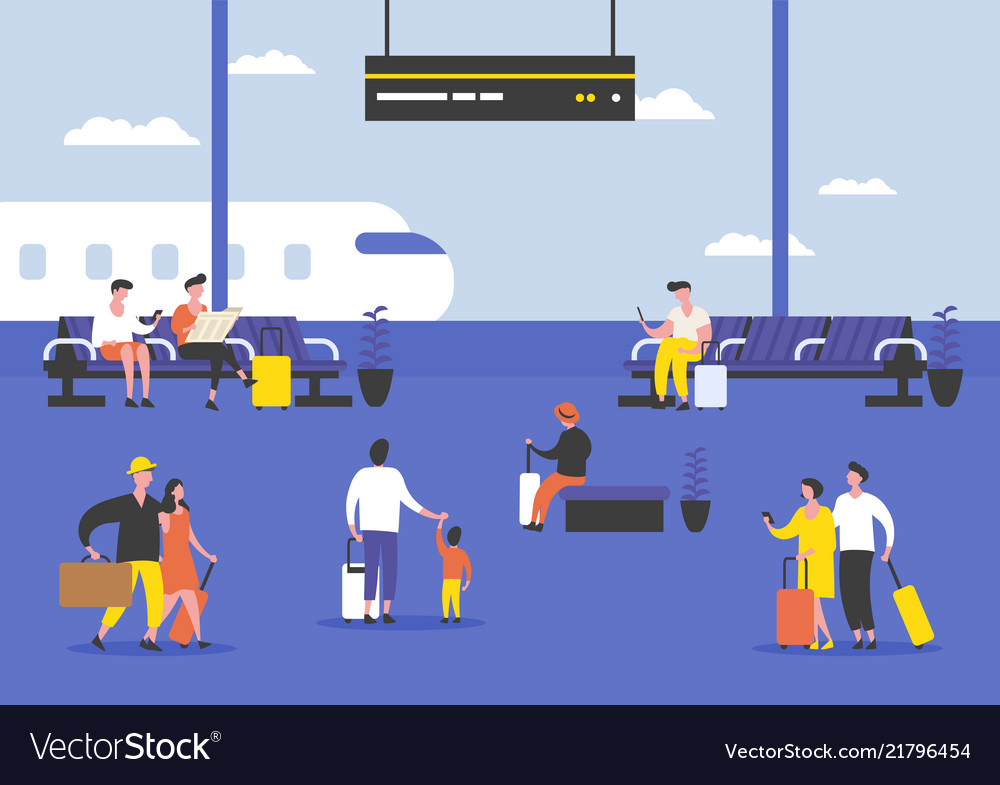 Passengers or people at airport terminal