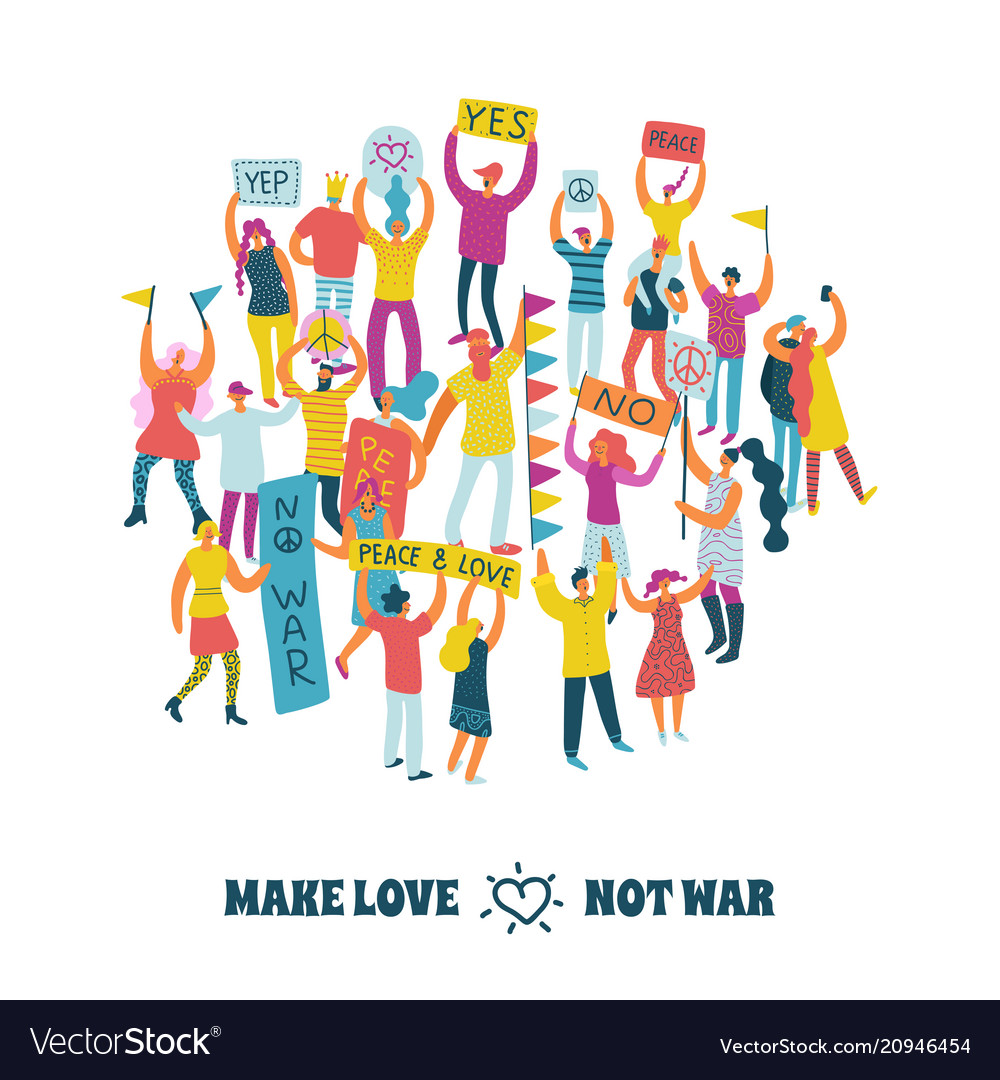 People for peace design concept vector image