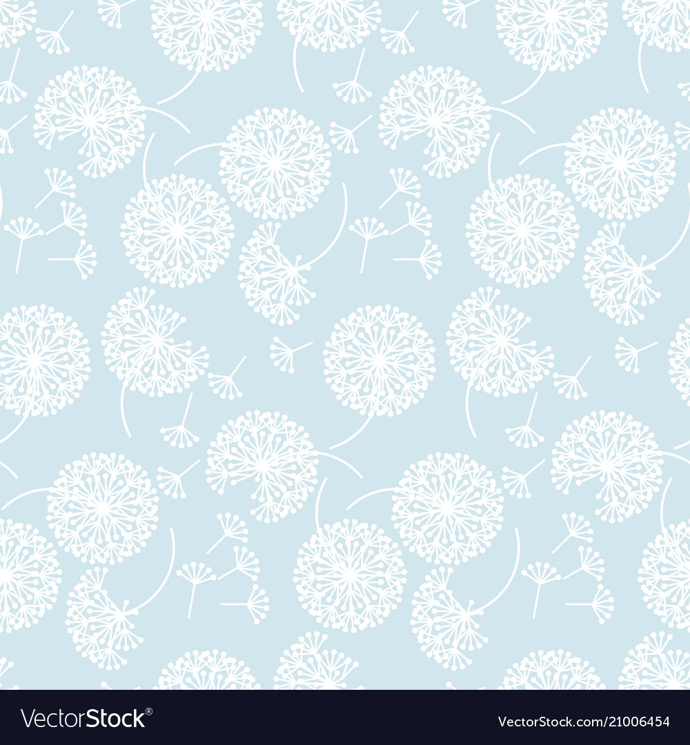 Tender pale color abstract dandelion flowers