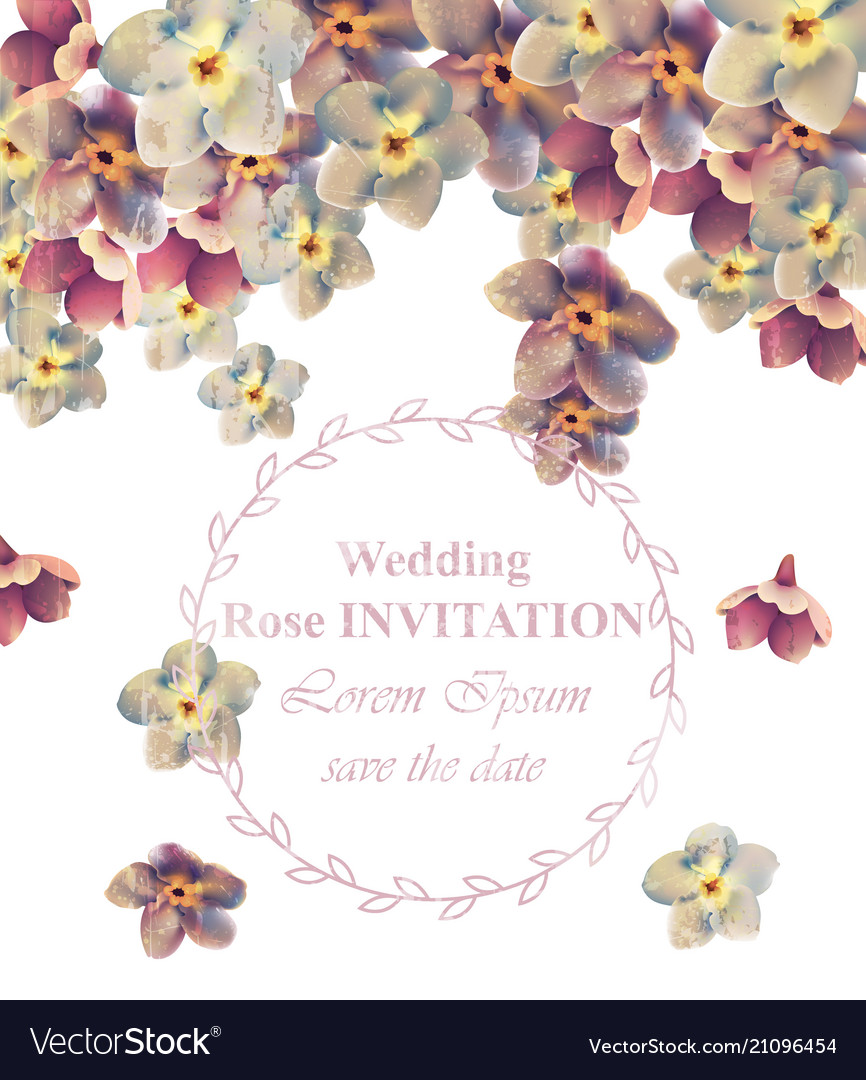 Vintage wedding frame floral beauty floral