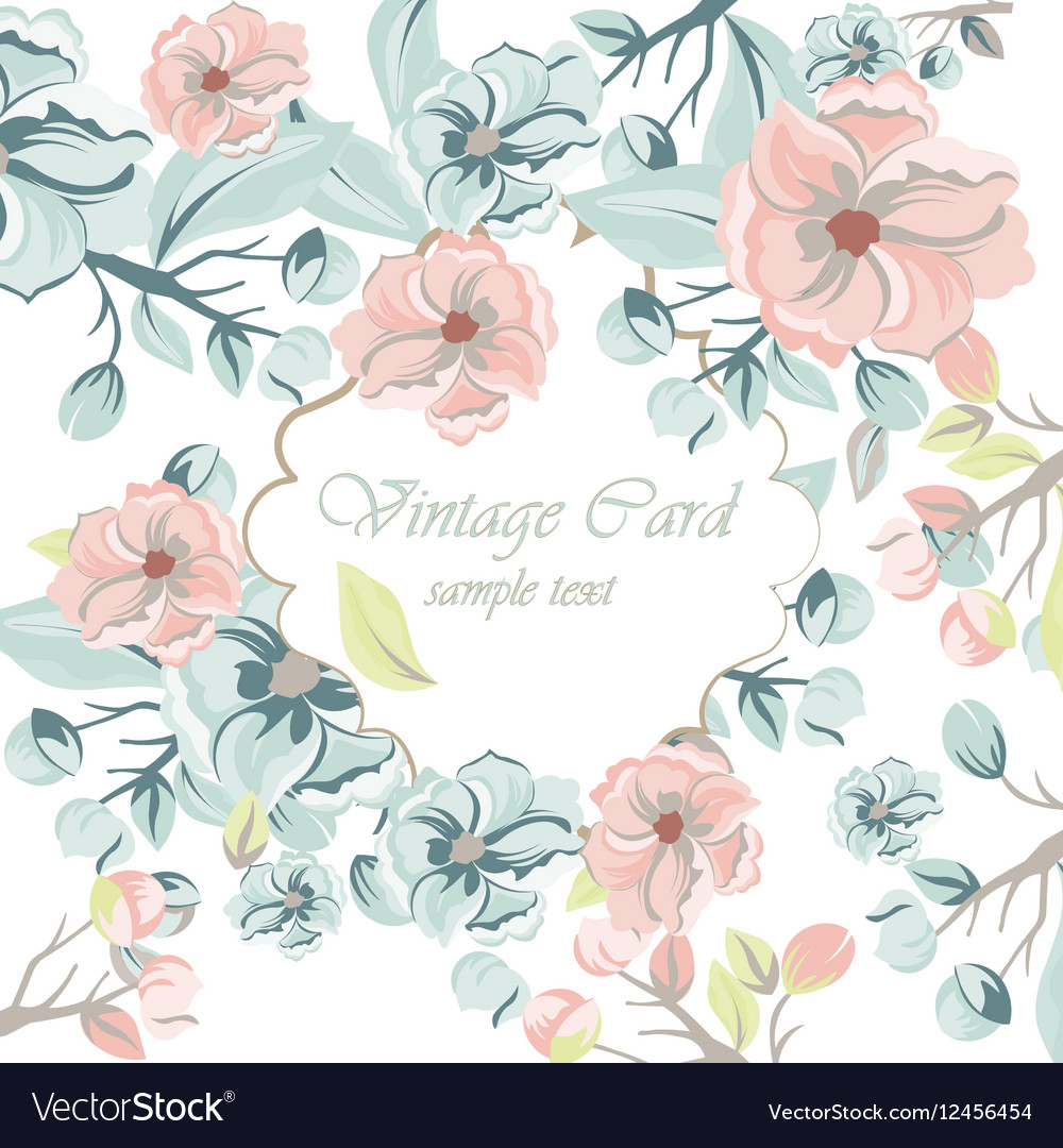 Watercolor Spring Flowers Background Royalty Free Vector