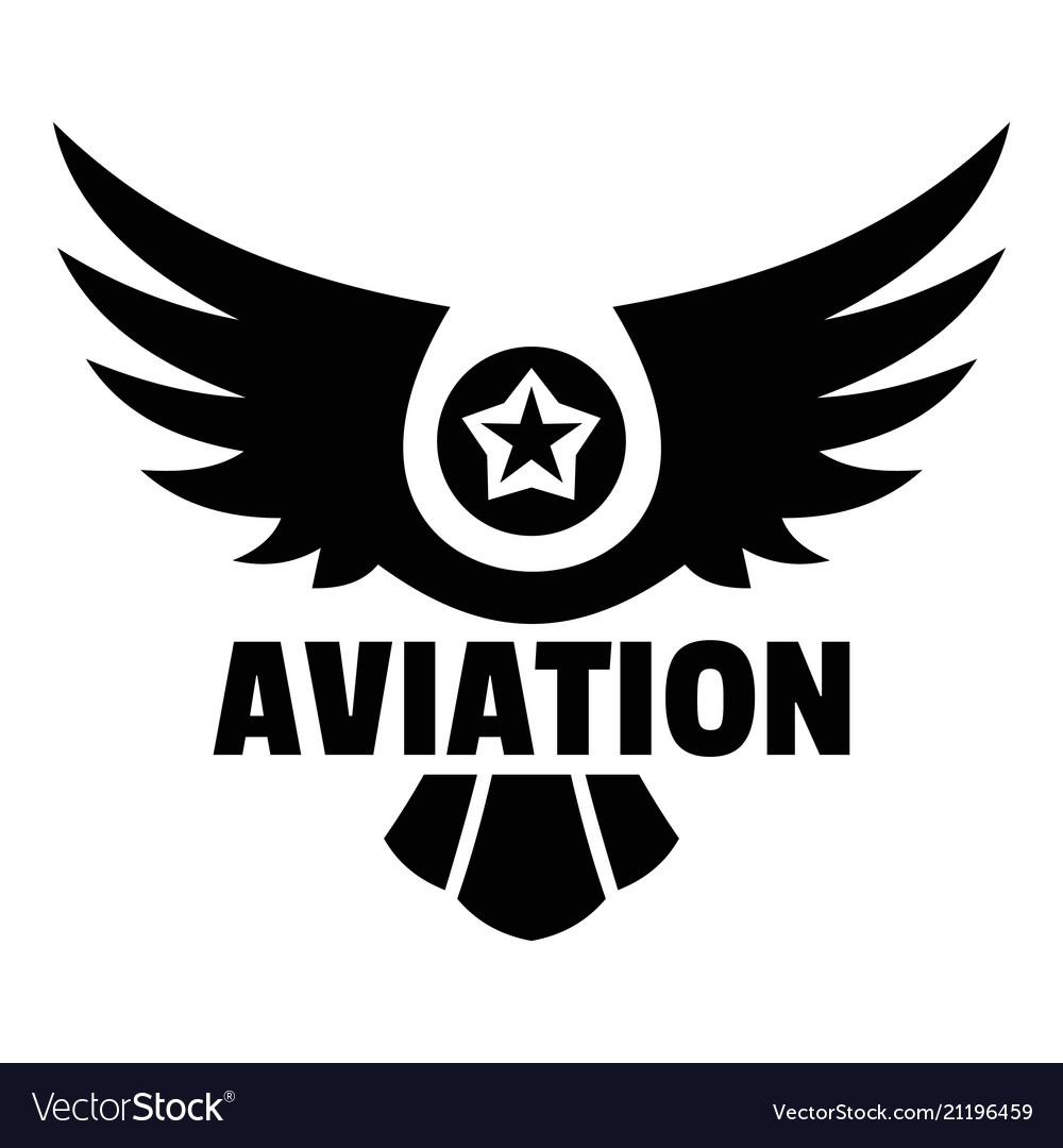 Aviation logo simple style