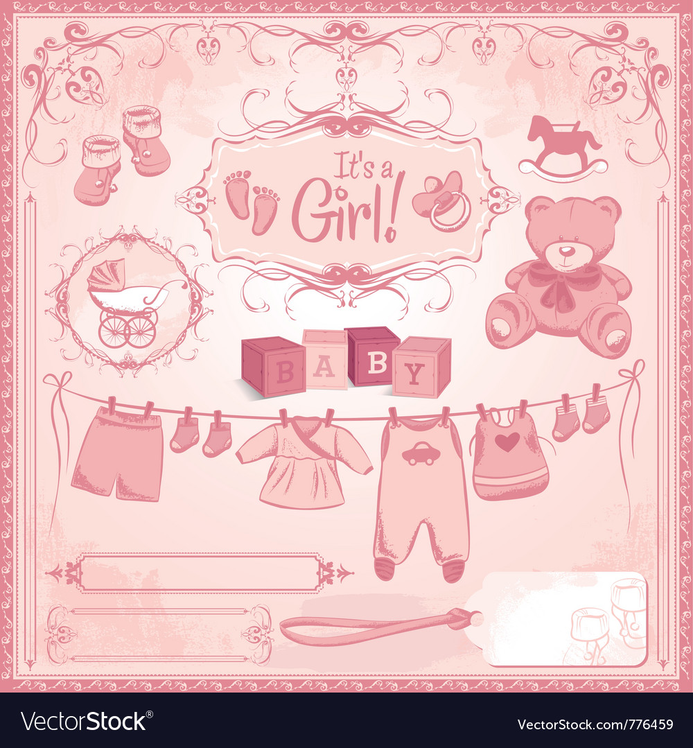 Baby girl childbirth vector image