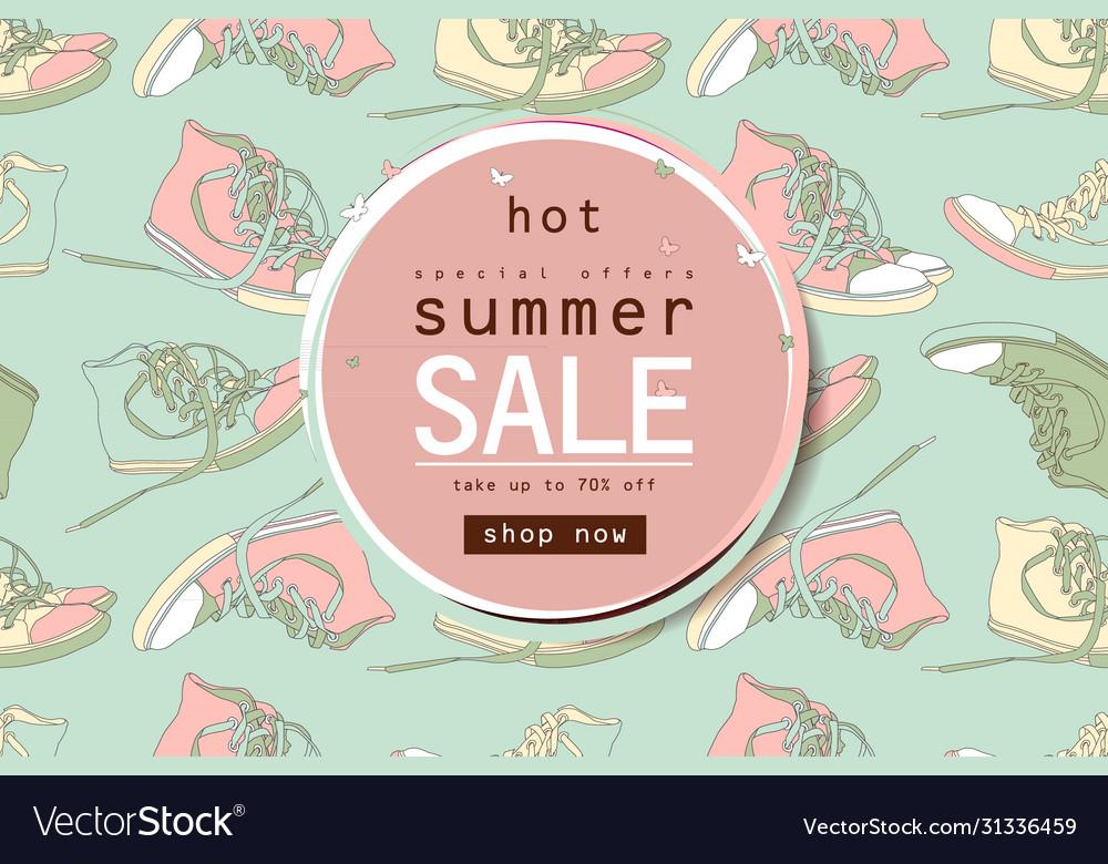 summer sale sneakers banner Royalty