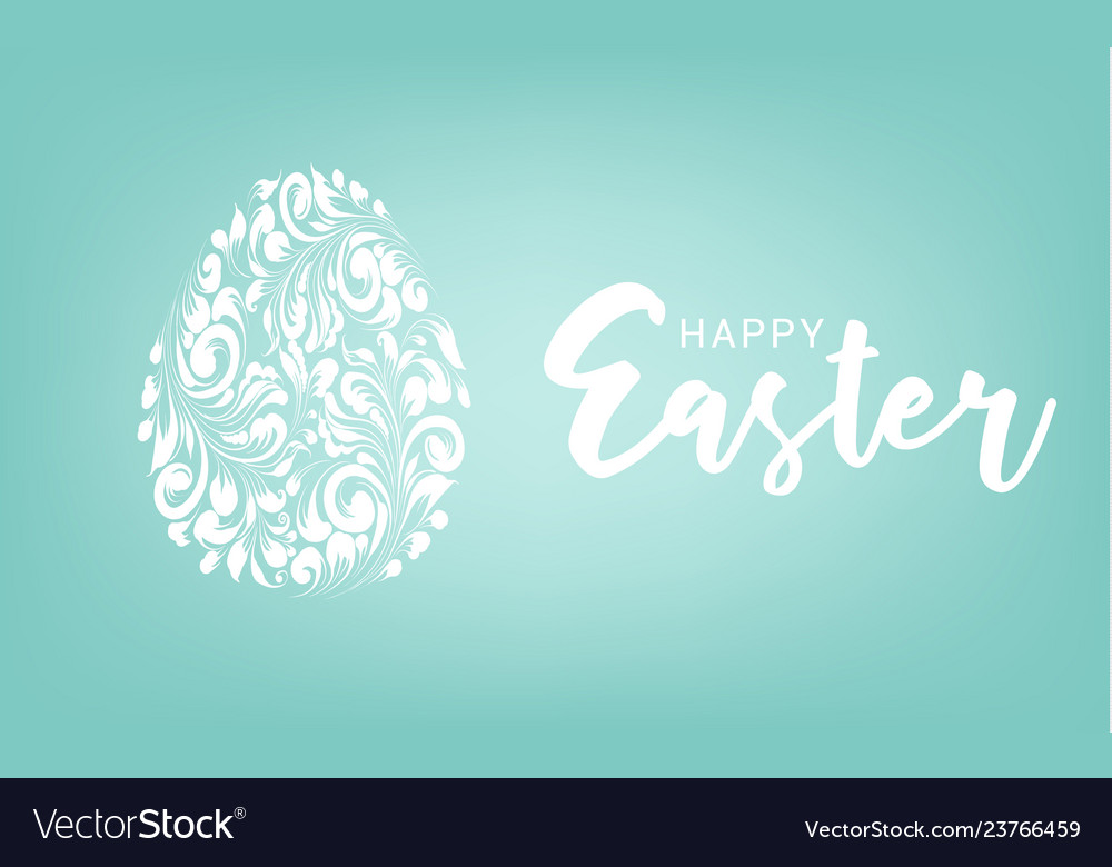 Easter egg with blue background happy easter card