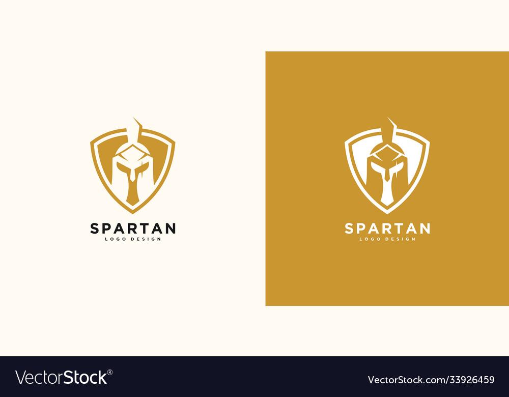 Spartan logo and design helmet and head