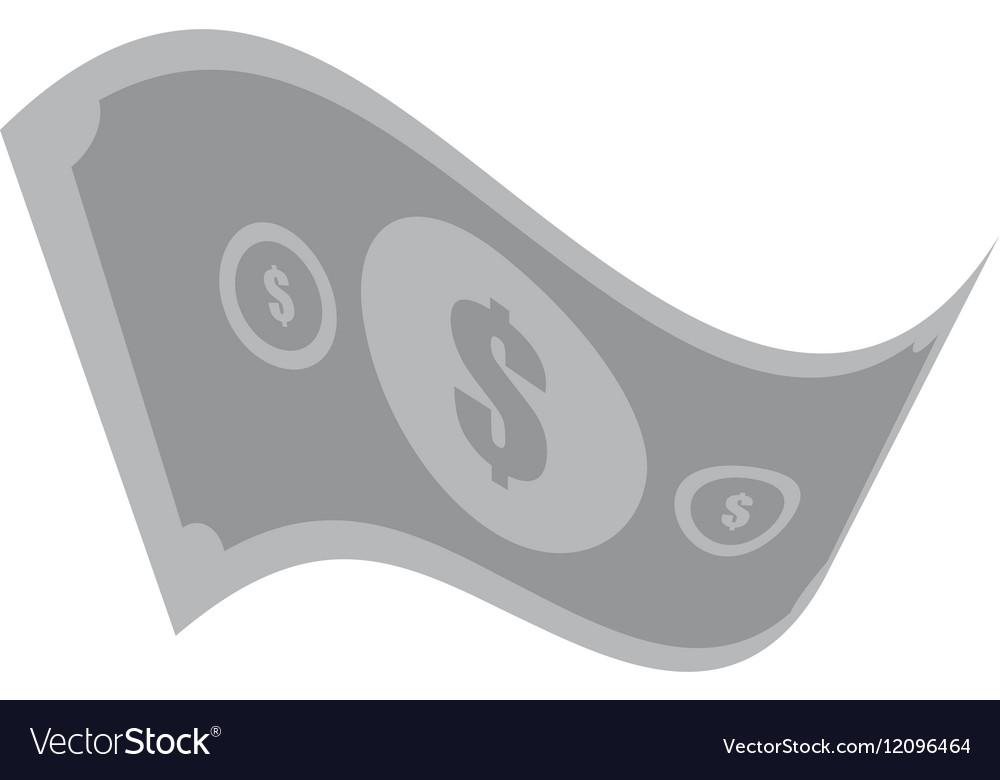 American dollar money bill gray color vector image