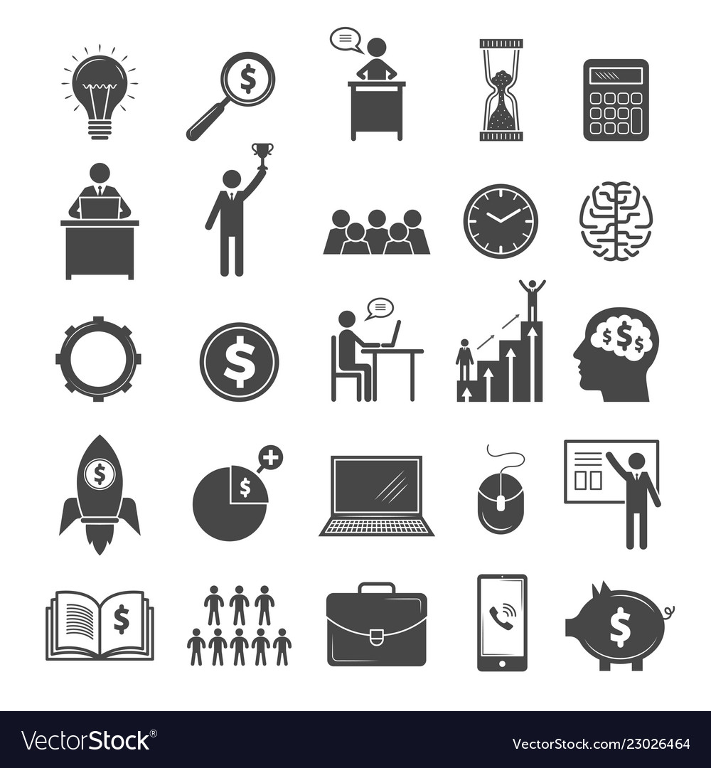 Business icons marketing diagram office managers