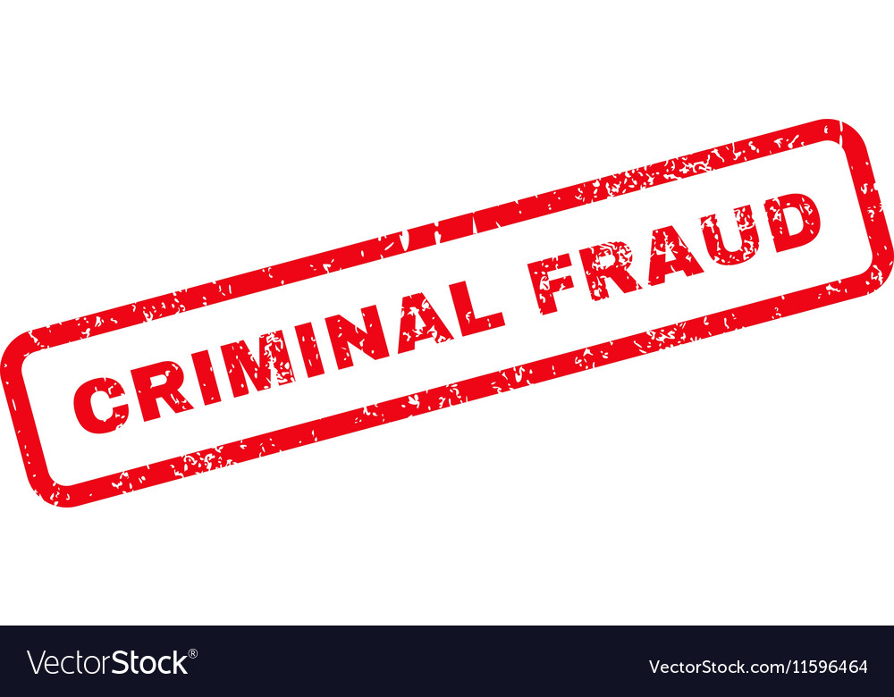 Criminal Fraud Text Rubber Stamp vector image