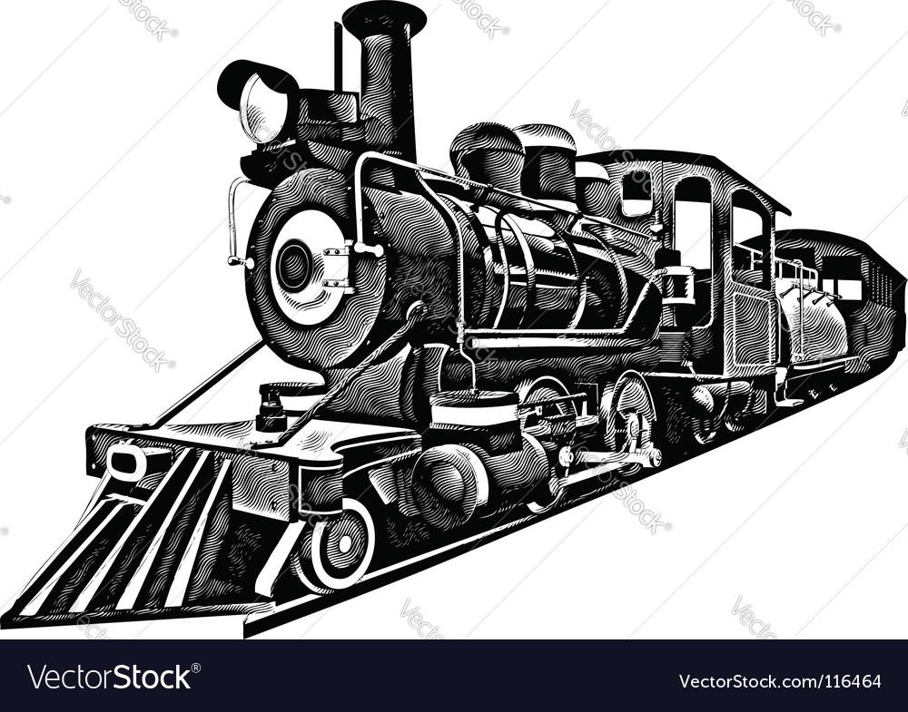 Express engraving vector image