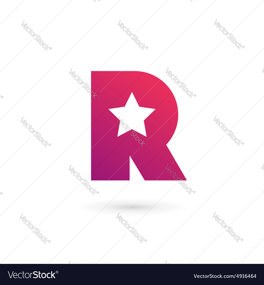 Letter R star logo icon design template elements