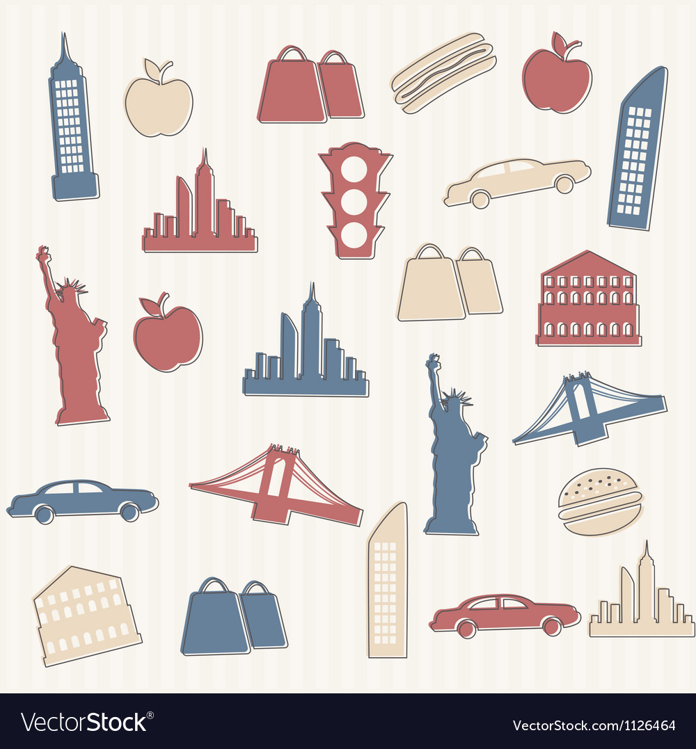New York seamless pattern