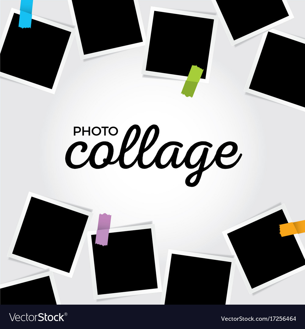 Photo collage template Royalty Free Vector Image
