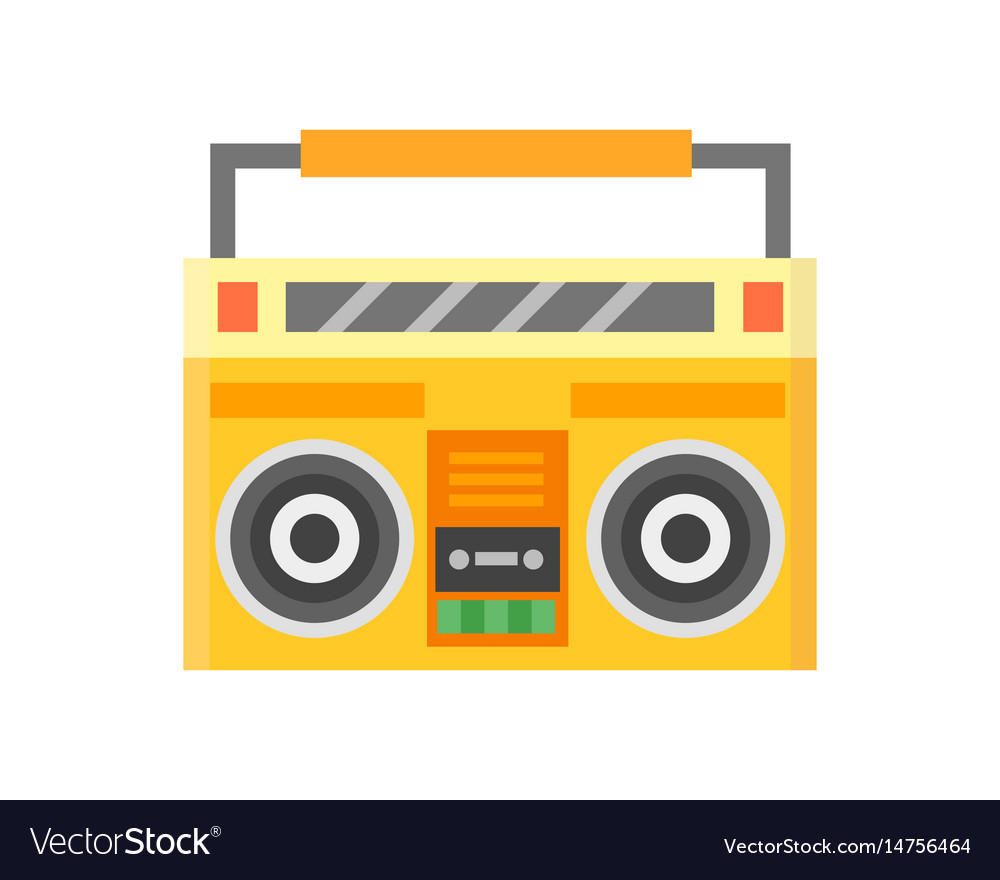 Retro blaster cassette tape recorder stereo record
