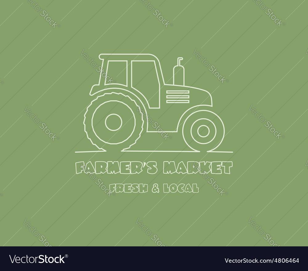 Tractor logo design template harvest or farm icon vector image