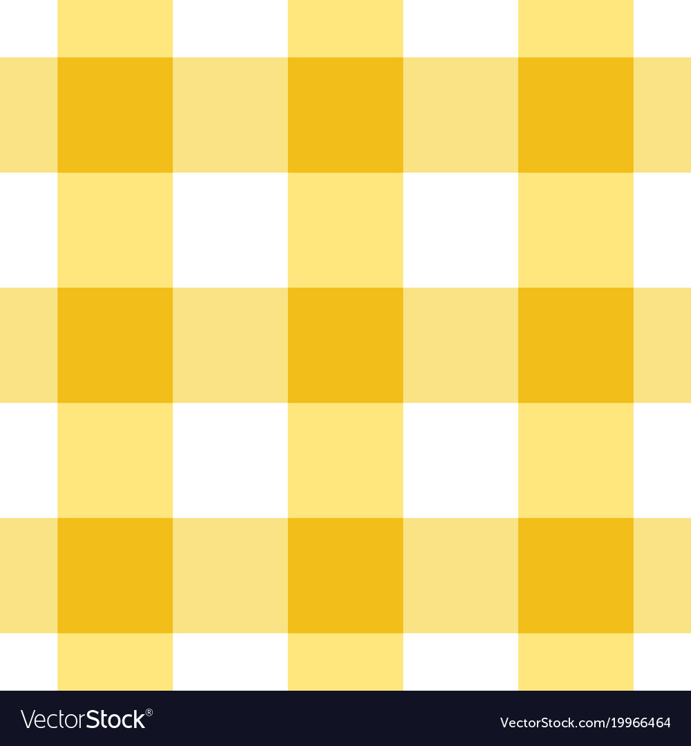 Charmant Yellow And White Gingham Tablecloth Seamless Patte Vector Image