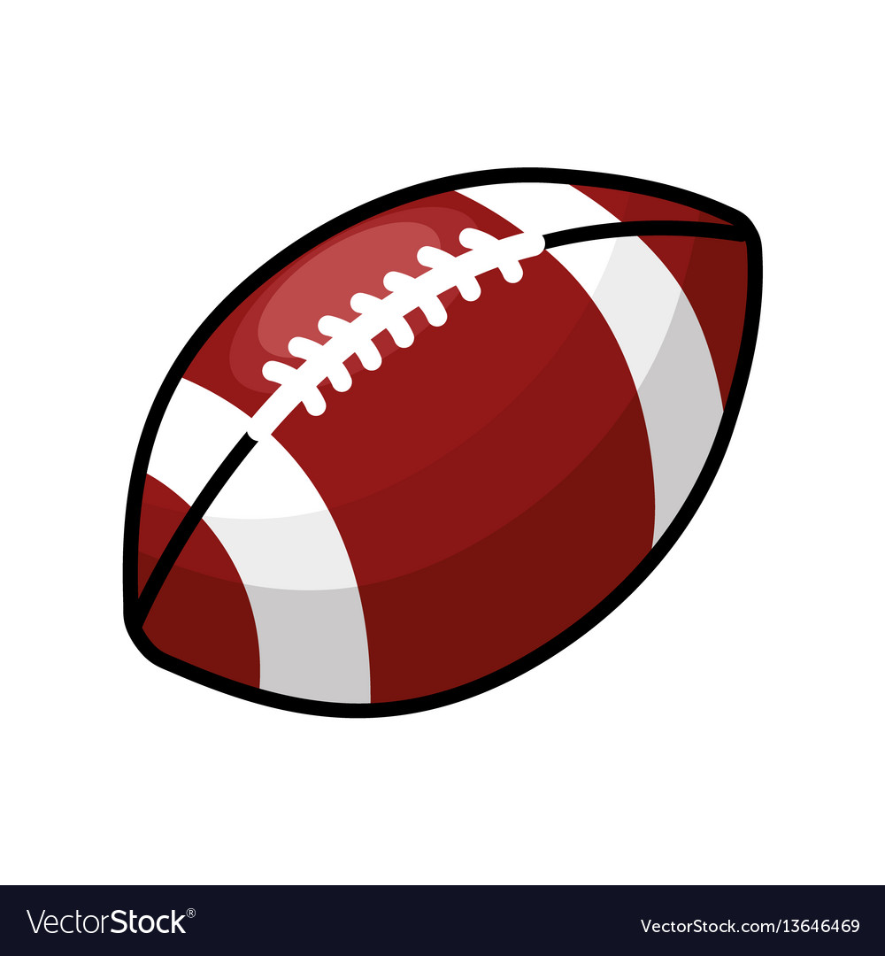 Color American Football And His Ball Icon Vector Image