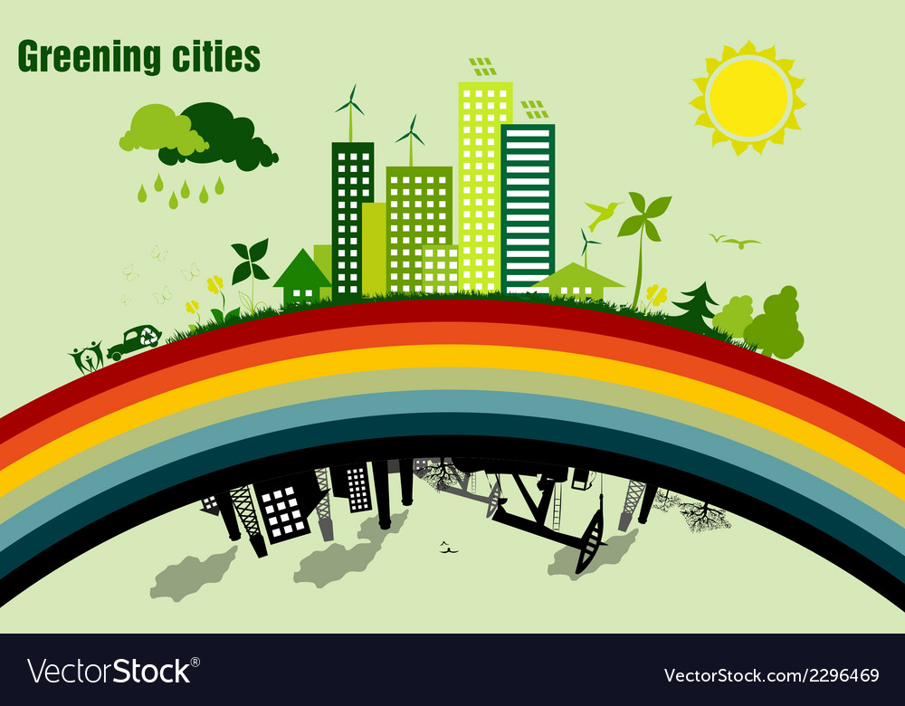 Greening cities concept of ecology
