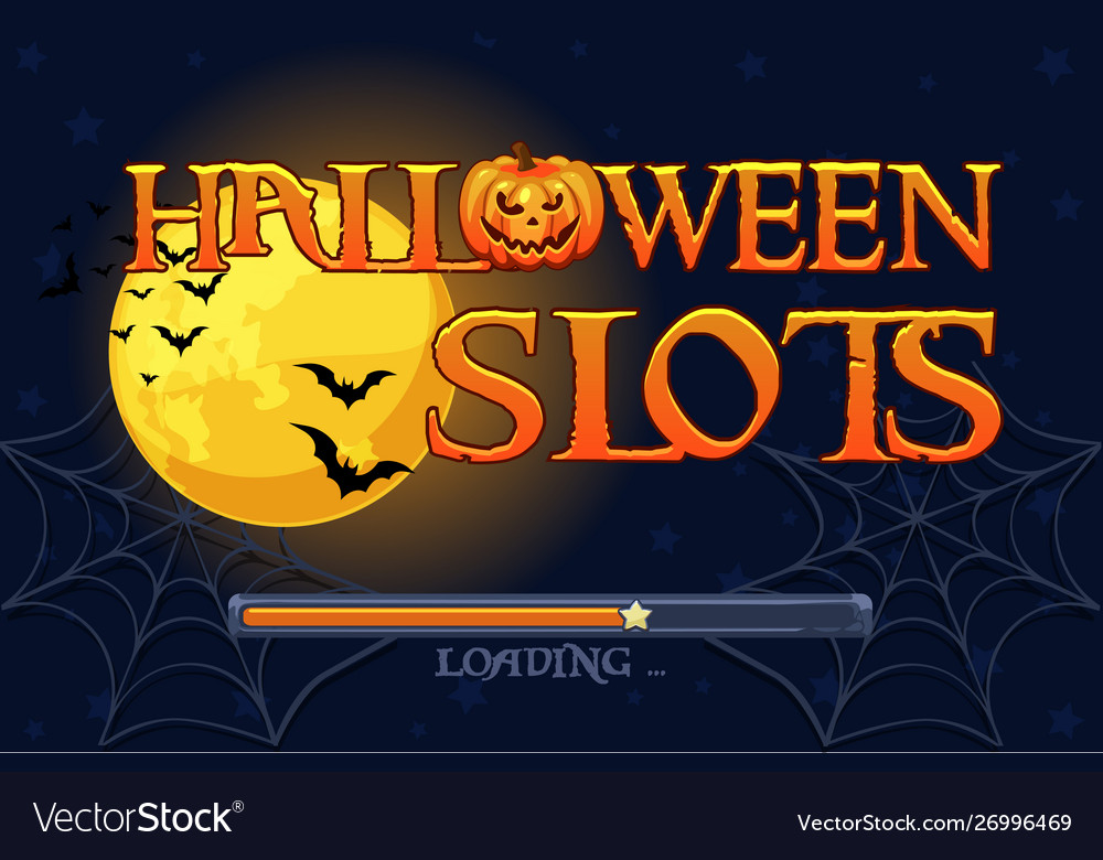 Halloween slots screen background for slots game