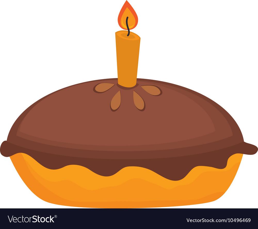 Icon pie cake dessert isolated