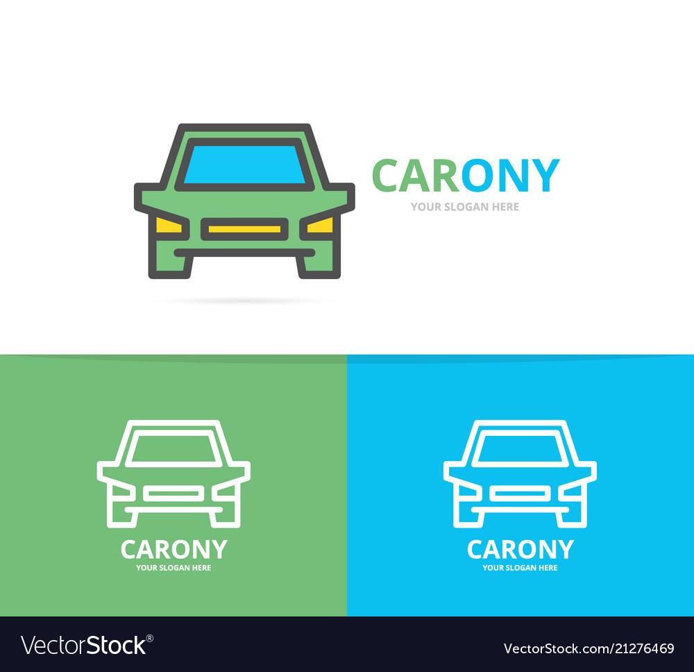 Simple car automobile logo design template