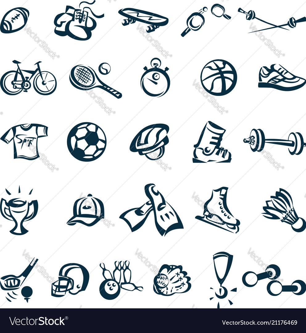 Sport drawing cartoon icon
