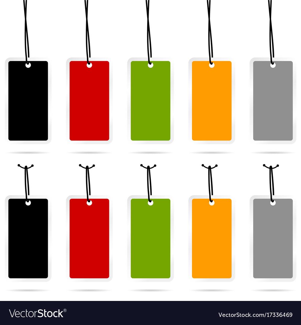 Tag set empty sale design in color