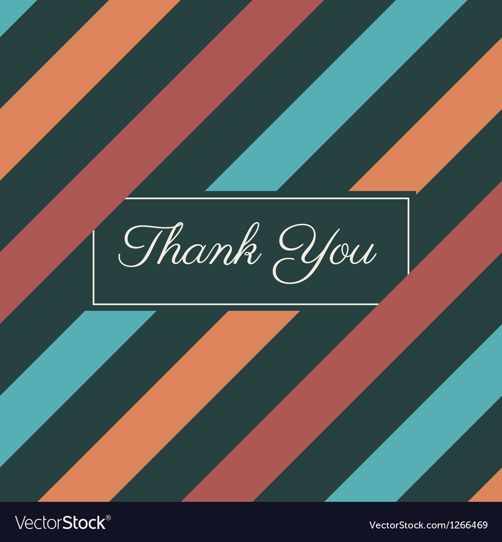 Thank you card stripes background