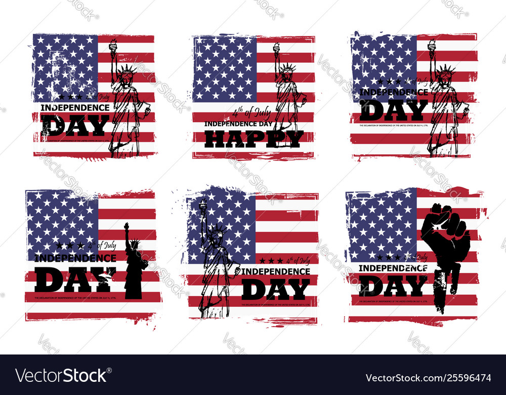 4th july independence day usa set of