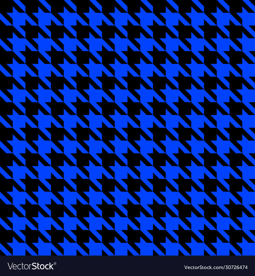 Blue and black houndstooth seamless pattern