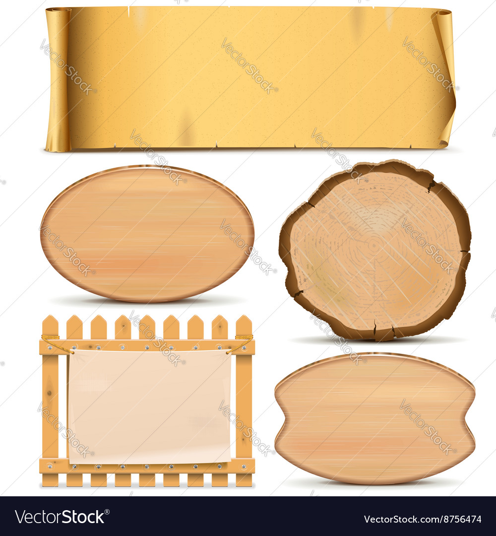 Boards Set 3 vector image