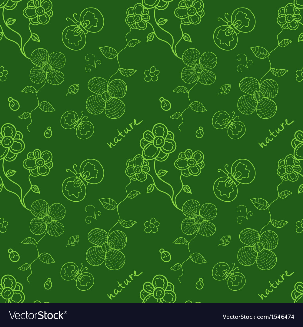 Colorful green seamless pattern with stylized vector image