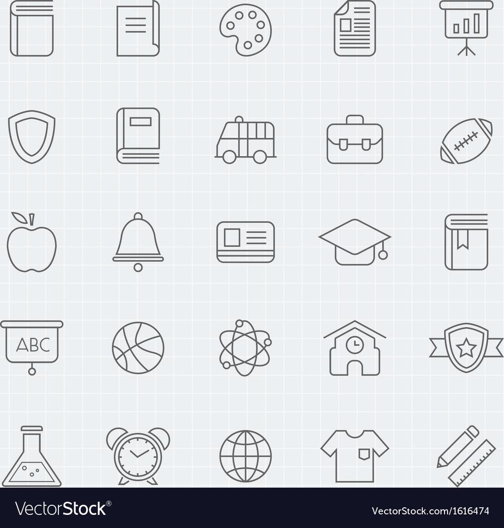 Education thin line symbol icon vector image
