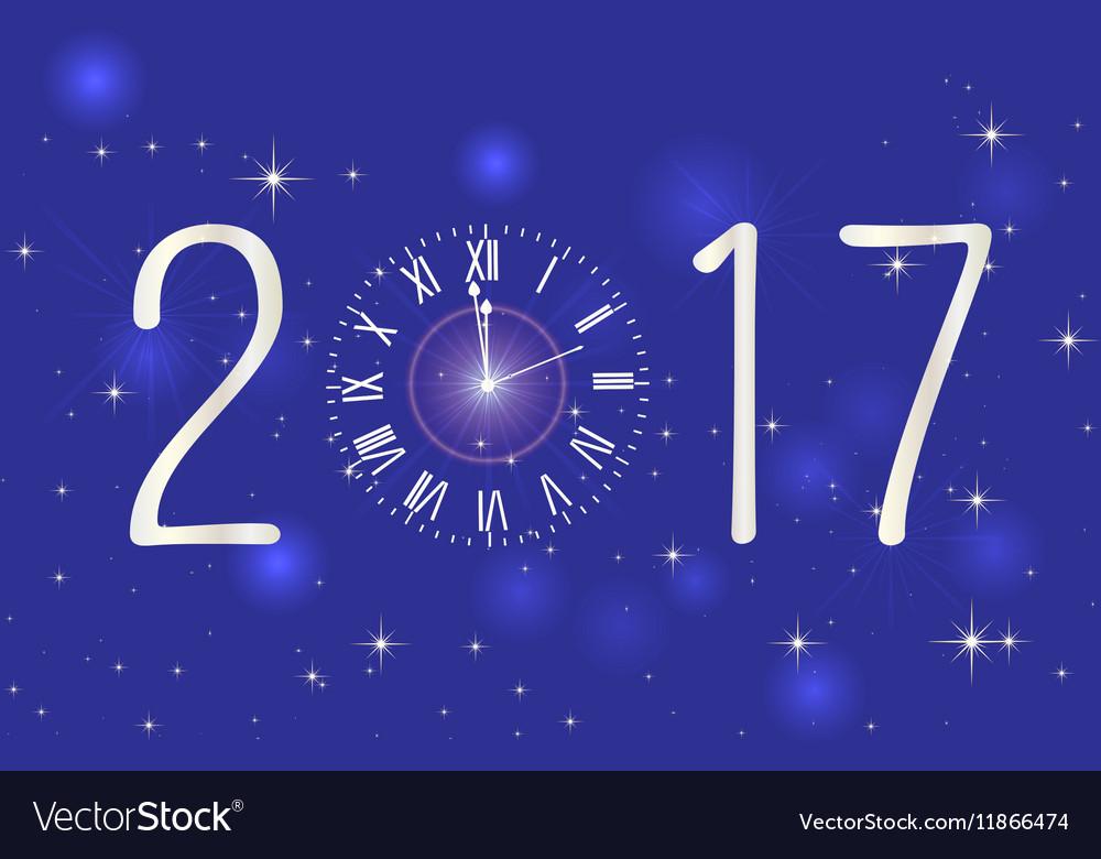 Happy New Year 2017 backgroundTypographic