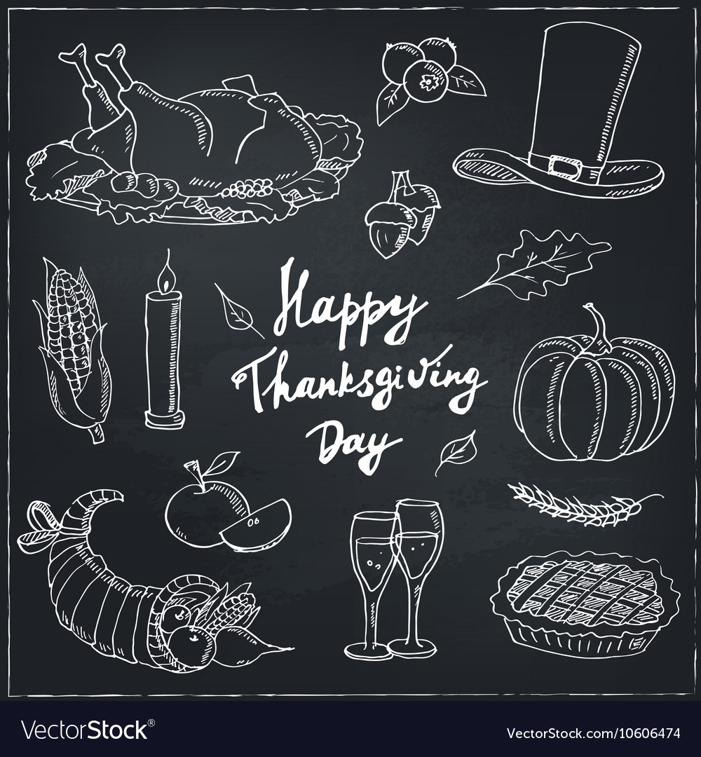 Happy Thanksgiving Day Hand Drawn Holiday Design