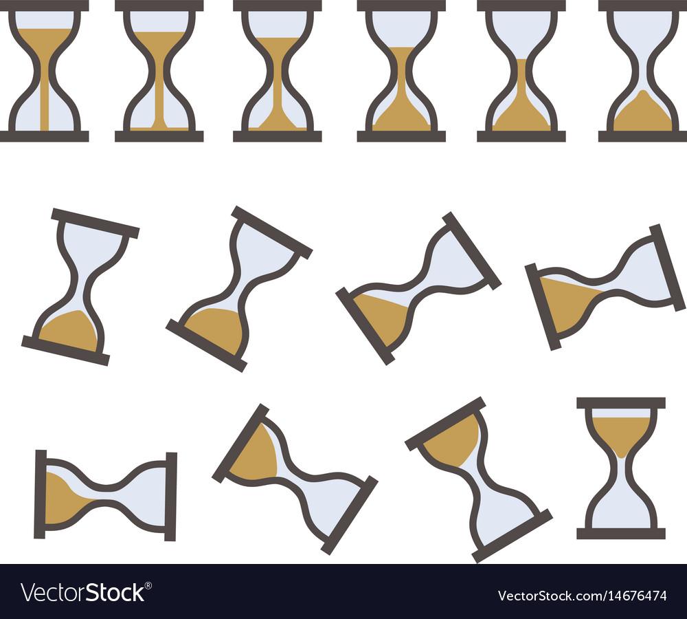 Hourglass sprite icon vector image